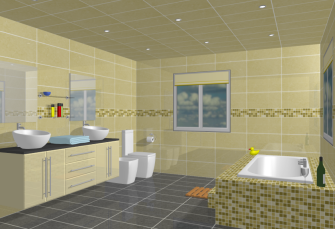 Bathroom Design 3D View
