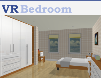 VR Bedroom 3-D Image